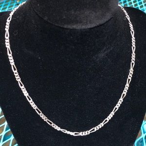 Jewelry - Sterling Silver Classic Figaro Chain Necklace